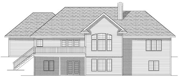 House Plan 73077 Rear Elevation