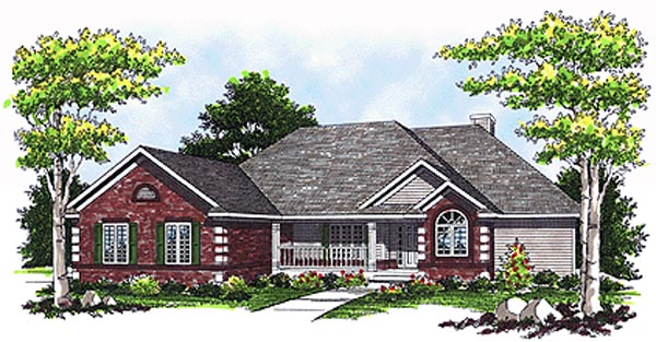 House Plan 73078 Elevation