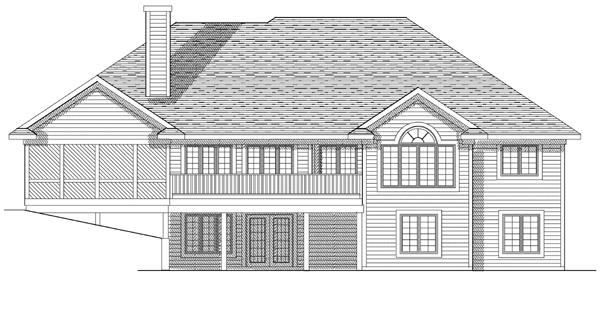 House Plan 73078 Rear Elevation