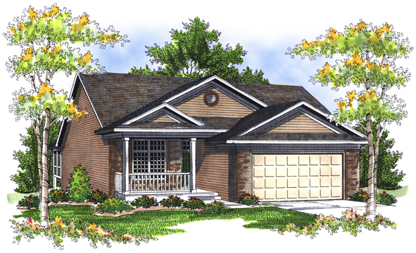 House Plan 73079 Elevation