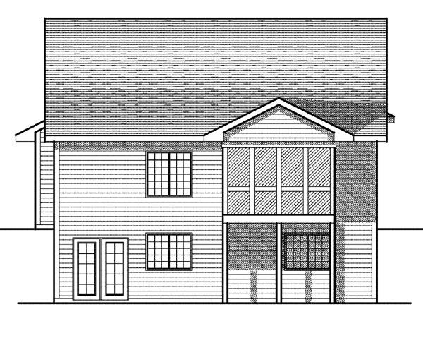 House Plan 73079 Rear Elevation