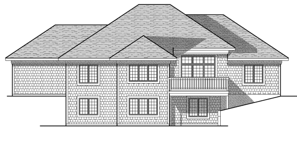 House Plan 73082 Rear Elevation