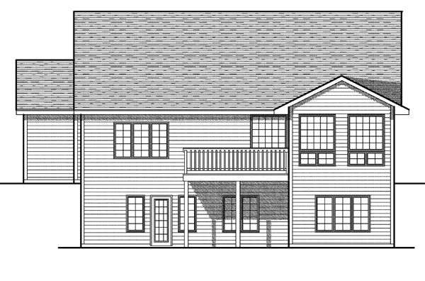 House Plan 73083 Rear Elevation