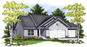 House Plan 73084 with 4 Beds, 3 Baths, 3 Car Garage Elevation