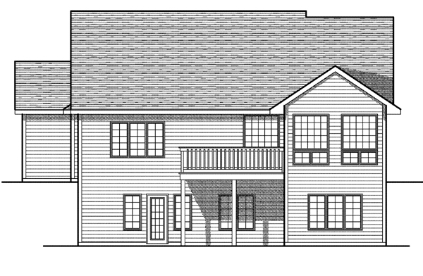 House Plan 73084 Rear Elevation