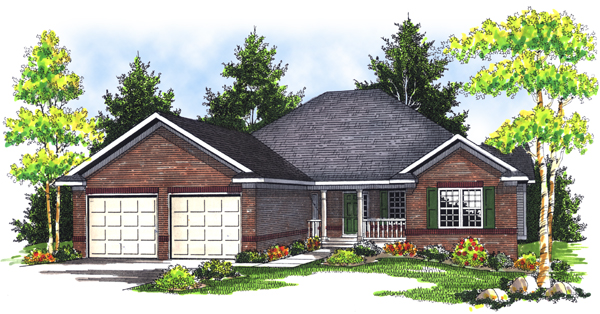 Traditional House Plan 73088 with 3 Beds, 4 Baths, 3 Car Garage Elevation