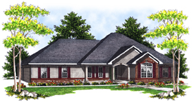 European House Plan 73089 Elevation
