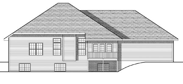 European House Plan 73089 Rear Elevation