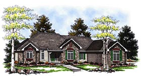 European House Plan 73091 Elevation