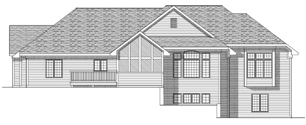 European House Plan 73091 Rear Elevation