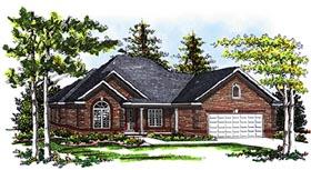 European House Plan 73093 Elevation