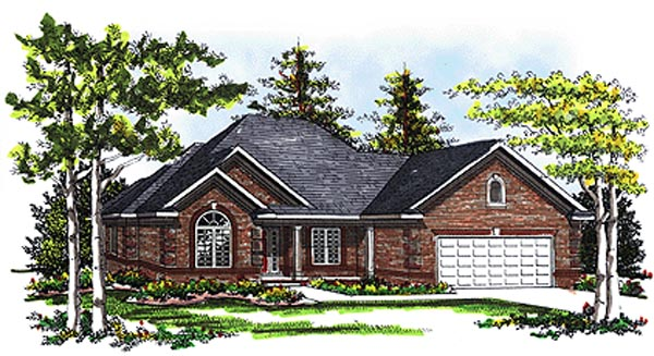 European House Plan 73093 Elevation