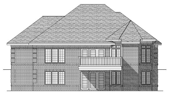 European House Plan 73093 Rear Elevation