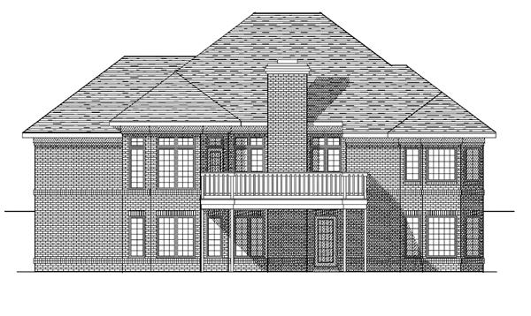 European House Plan 73094 Rear Elevation