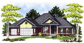 European Traditional House Plan 73095 Elevation