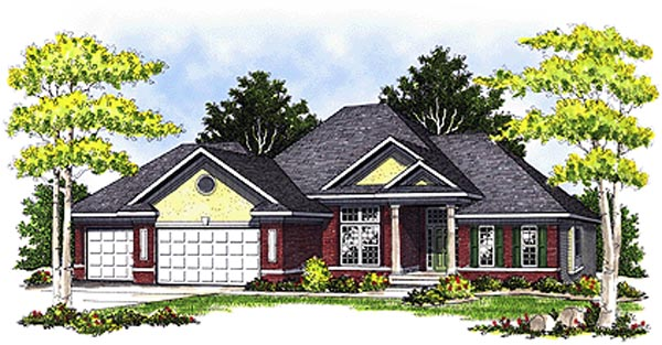 European Traditional House Plan 73095 Elevation