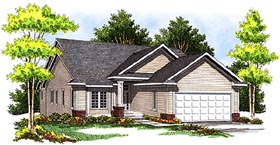 Ranch Traditional House Plan 73096 Elevation