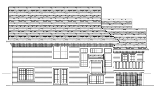 Traditional House Plan 73098 Rear Elevation