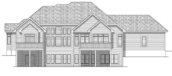 European House Plan 73100 Rear Elevation