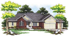 Ranch Traditional House Plan 73101 Elevation
