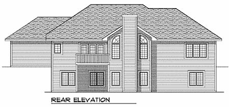 Ranch Traditional House Plan 73101 Rear Elevation