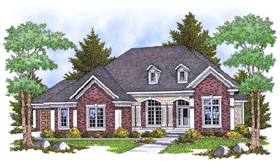 European Traditional House Plan 73102 Elevation