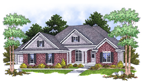 Traditional House Plan 73103 Elevation