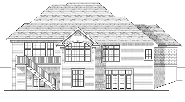 Traditional House Plan 73103 Rear Elevation