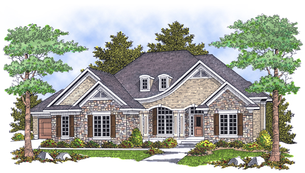 European House Plan 73104 Elevation