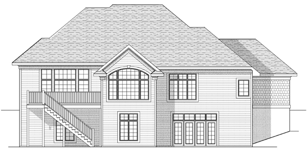 European House Plan 73104 Rear Elevation
