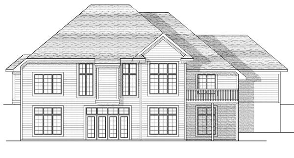 European House Plan 73105 Rear Elevation