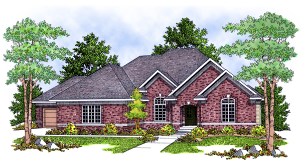 European Traditional House Plan 73106 Elevation