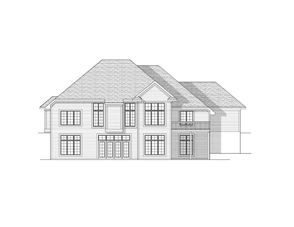 European Traditional House Plan 73106 Rear Elevation