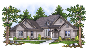 Traditional House Plan 73107 Elevation