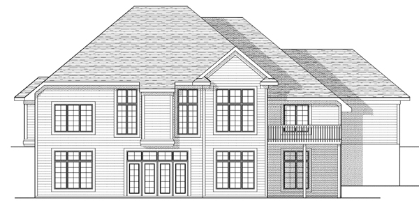 Traditional House Plan 73107 Rear Elevation