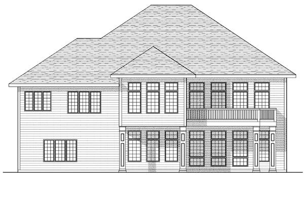 European House Plan 73108 Rear Elevation