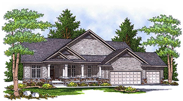 Ranch House Plan 73109 Elevation