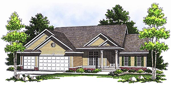 Ranch House Plan 73110 Elevation