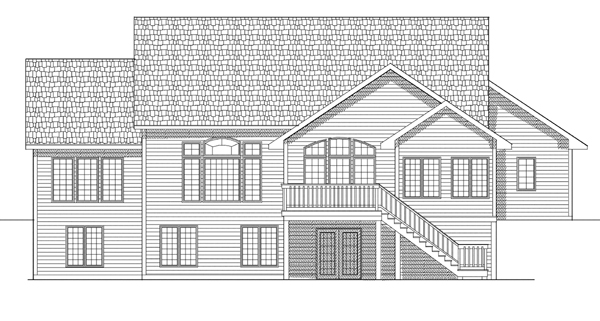 Ranch House Plan 73110 Rear Elevation