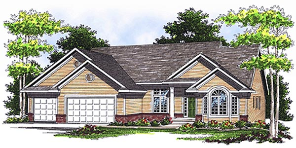 Ranch Traditional House Plan 73111 Elevation