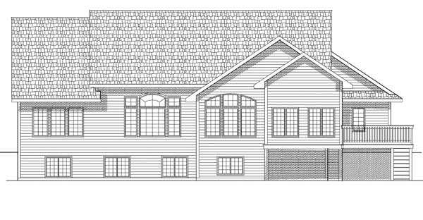 Ranch Traditional House Plan 73111 Rear Elevation