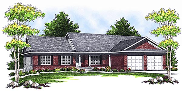 Ranch House Plan 73112 Elevation