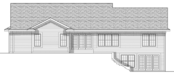 Ranch House Plan 73112 Rear Elevation