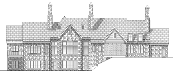Traditional House Plan 73114 Rear Elevation