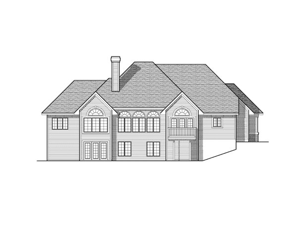 Traditional House Plan 73115 Rear Elevation