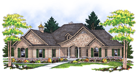 European House Plan 73116 Elevation