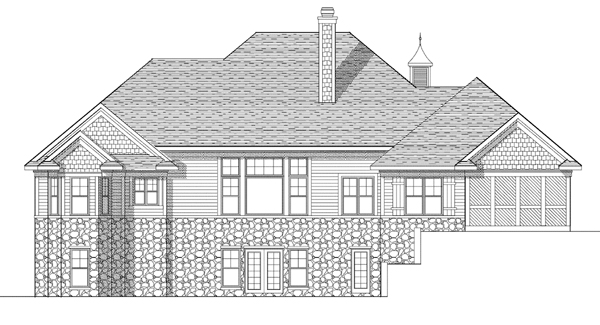 European House Plan 73116 Rear Elevation