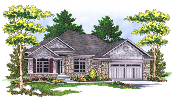 Traditional House Plan 73118 with 4 Beds, 3 Baths, 2 Car Garage Elevation