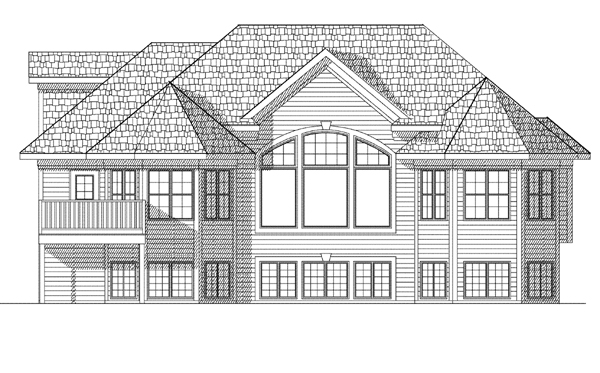Traditional House Plan 73119 Rear Elevation