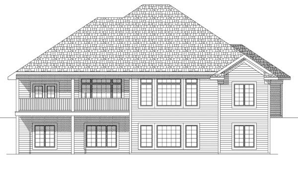 European House Plan 73120 Rear Elevation